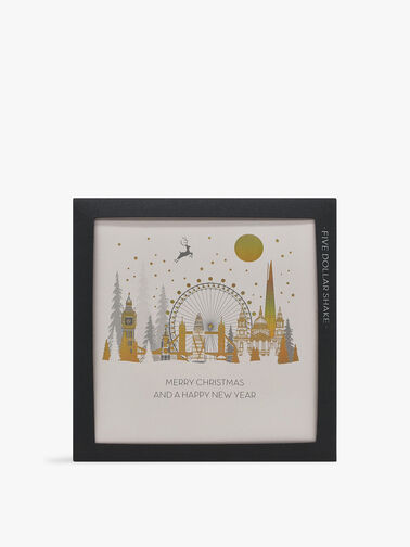 Merry Christmas and a Happy New Year London Pack of 6