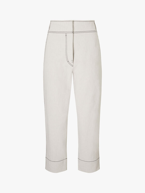 Martina Easy Turn Up Cotton Pants