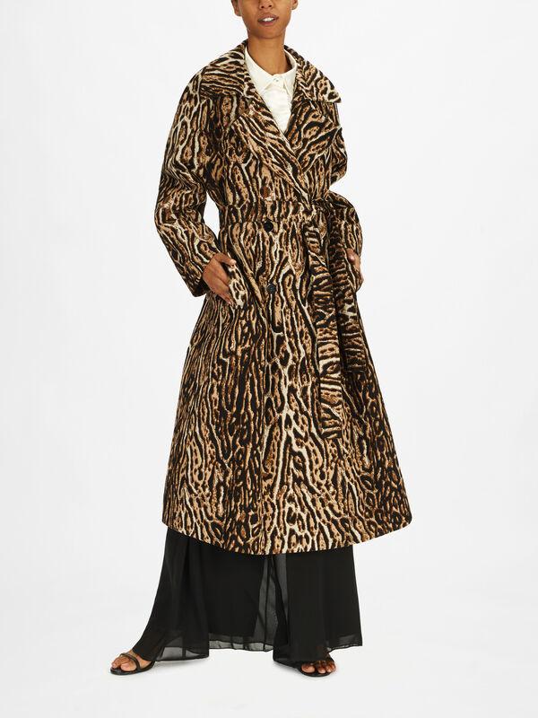 Tigre Animalier Jacquard Coat