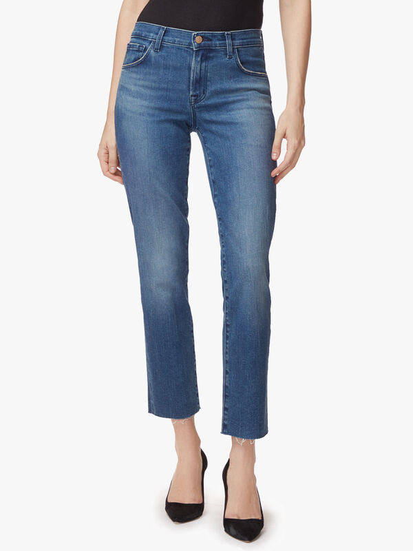 Adele Mid Rise Straight Jeans