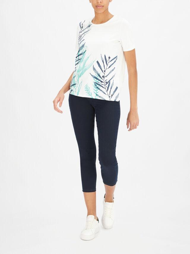 Leaf Print T Shirt