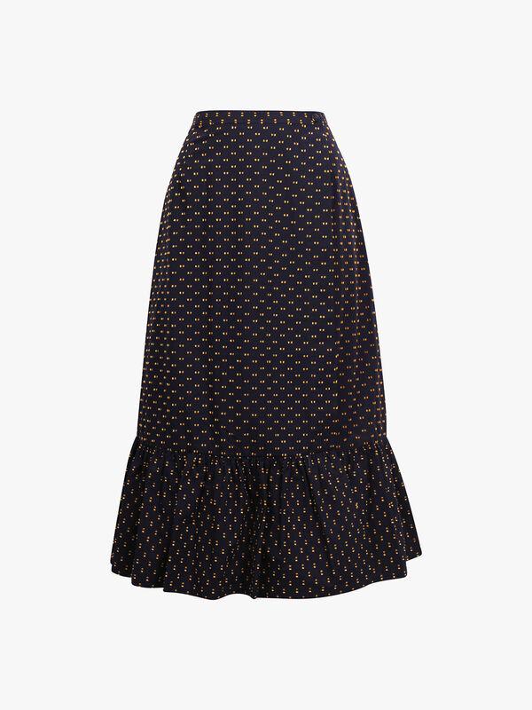 Shakira Paw Midi Skirt