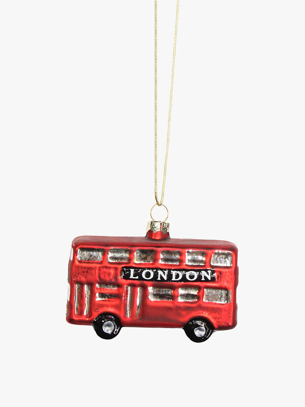 Painted Glass London Bus Decoration