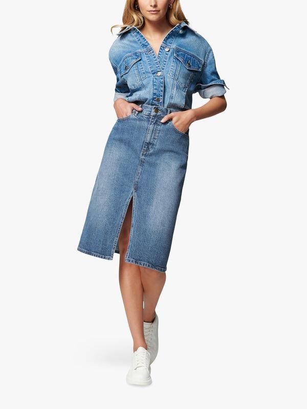 Lydia Midi Denim Skirt