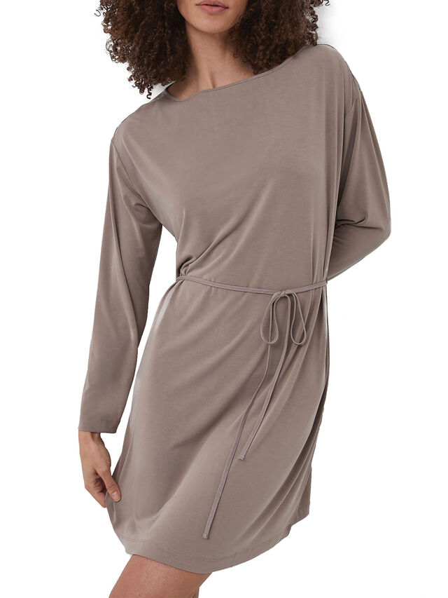 Renya Cupro Jersey Long Sleeve Tunic Dress