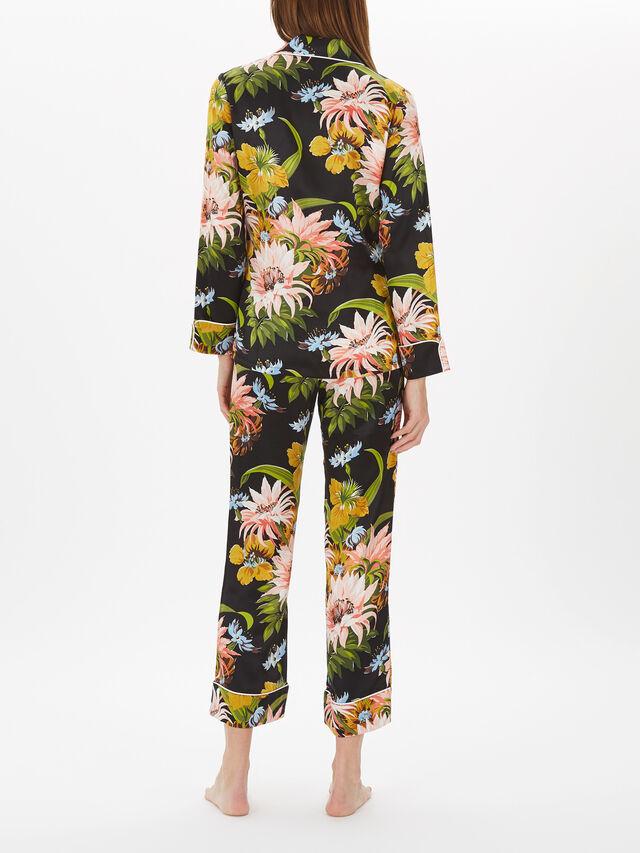Print Long Silk PJ Set
