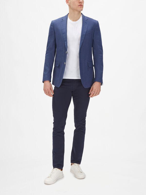 Stretch Linen Suit Blazer