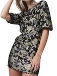 Alma Jaquard Sequin Crew Neck Mini Dress