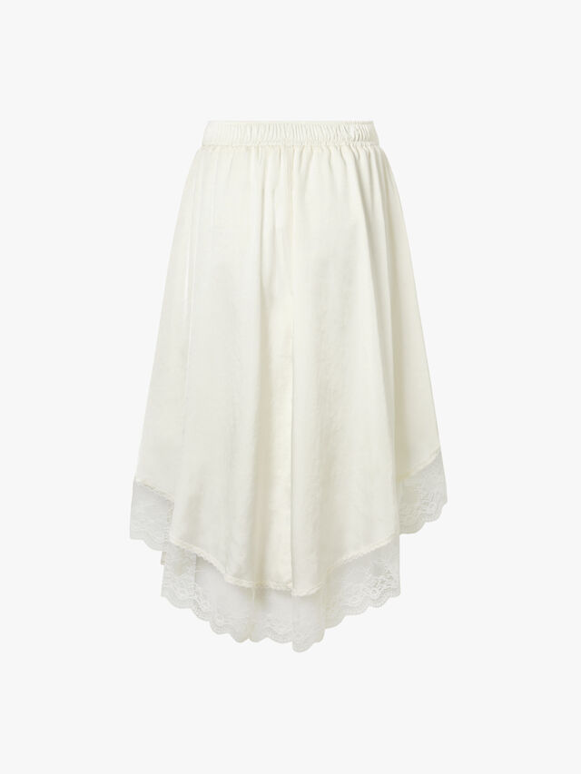 Asymmetrical Skirt with Lace