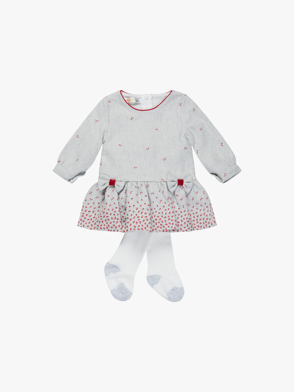 Mini Roses Dress and Tights
