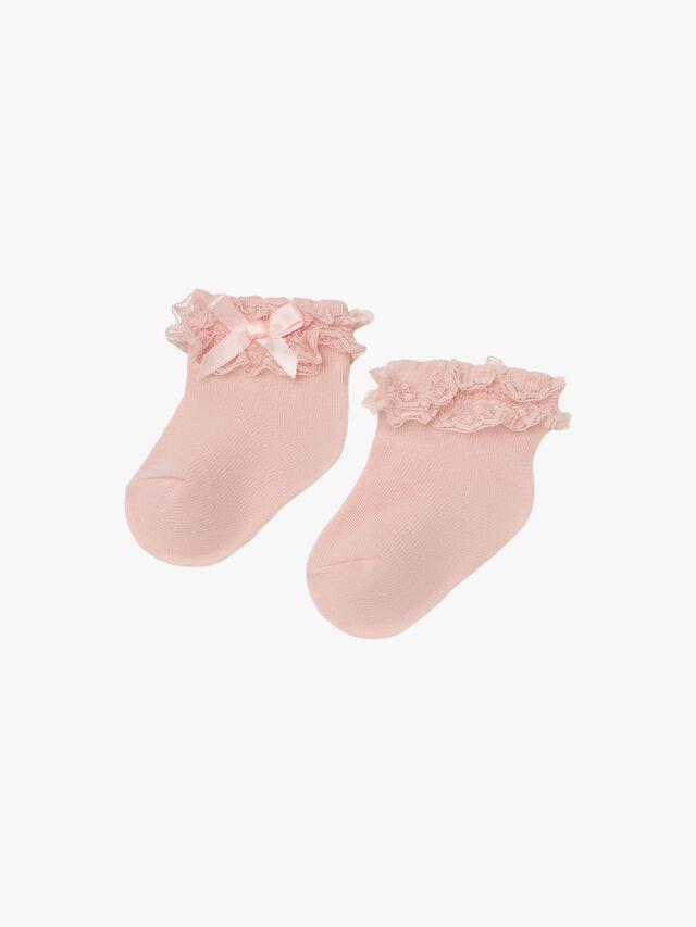 Lace Applique Socks