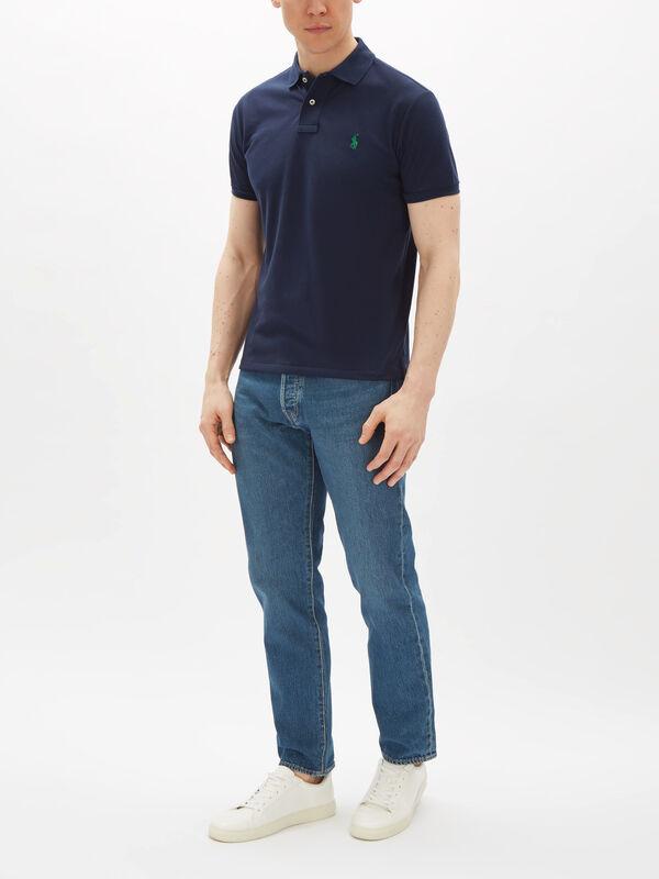Slim Fit Earth Polo Shirt
