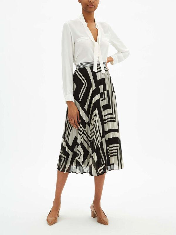 Zemira Pleated Midi Skirt