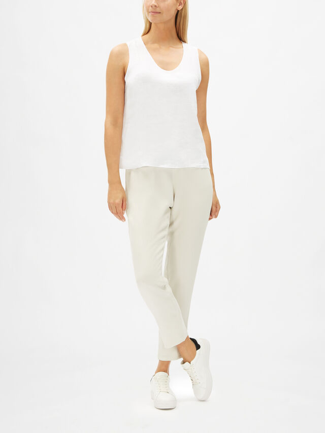 Round Neck Shell Top