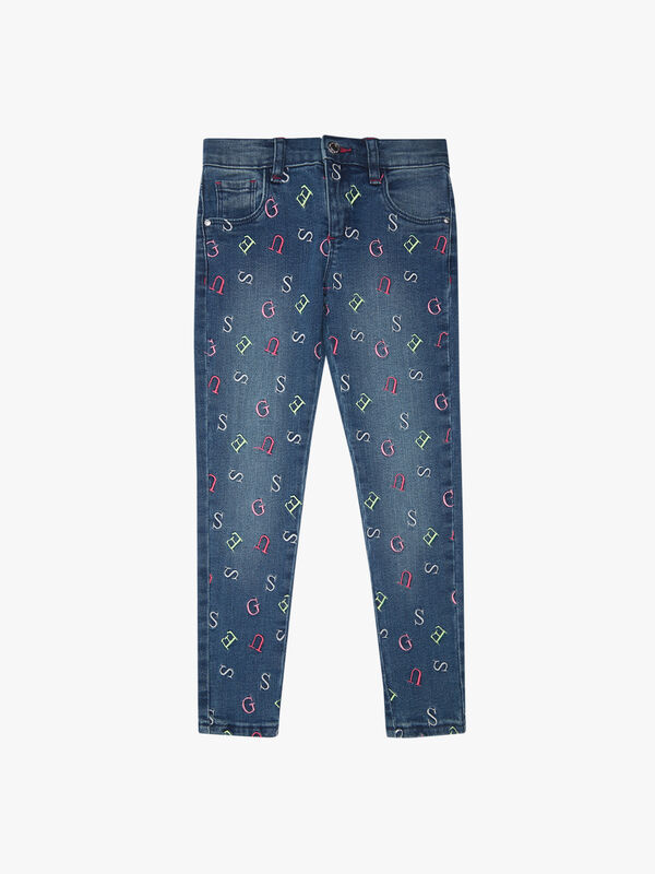 Skinny Jean with letter