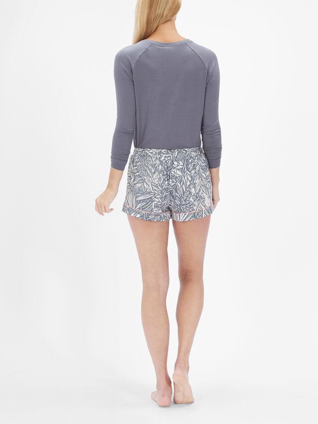 Hallie Leaf Print PJ Shorts