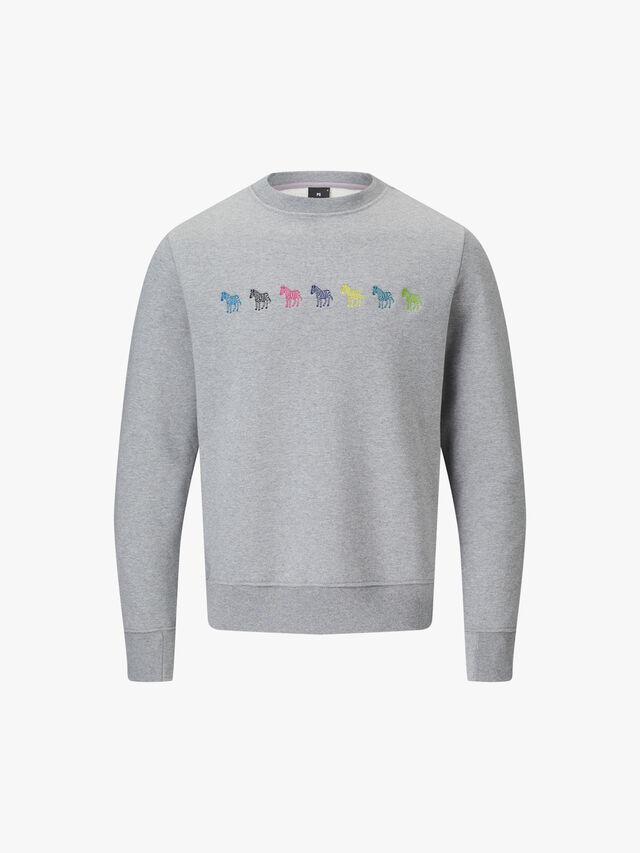 Embroidered Multicolour Zebra Sweatshirt