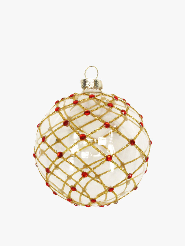 Soap Bubble With Trellis Glass Christmas Ball