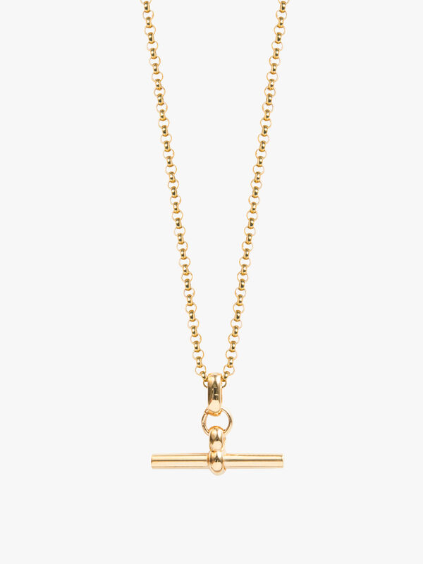 Small T-Bar Belcher Necklace