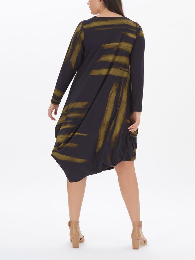 Shadow Print Bubble Jersey Dress