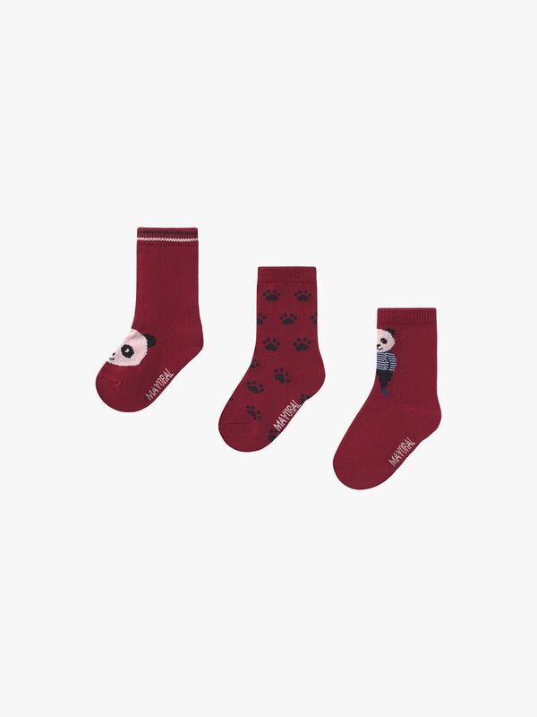 Pack Of 3 Panda Socks