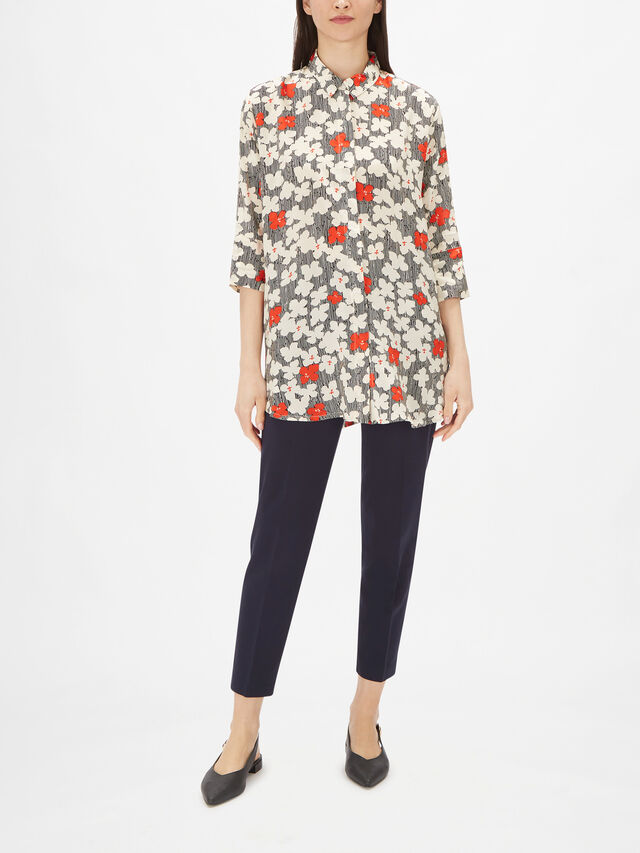 Indrassi Striped and Floral Print Shirt