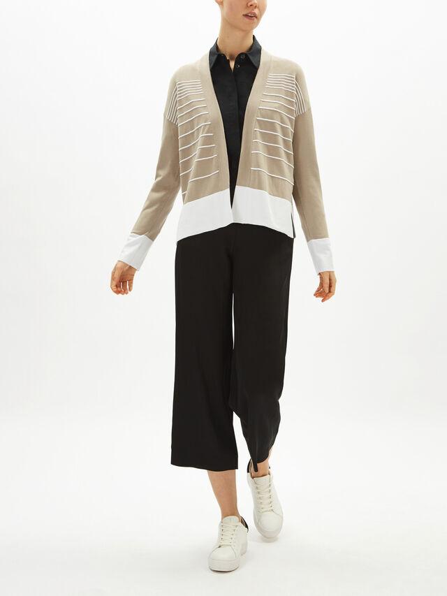 Stripe Long Sleeve Cardigan