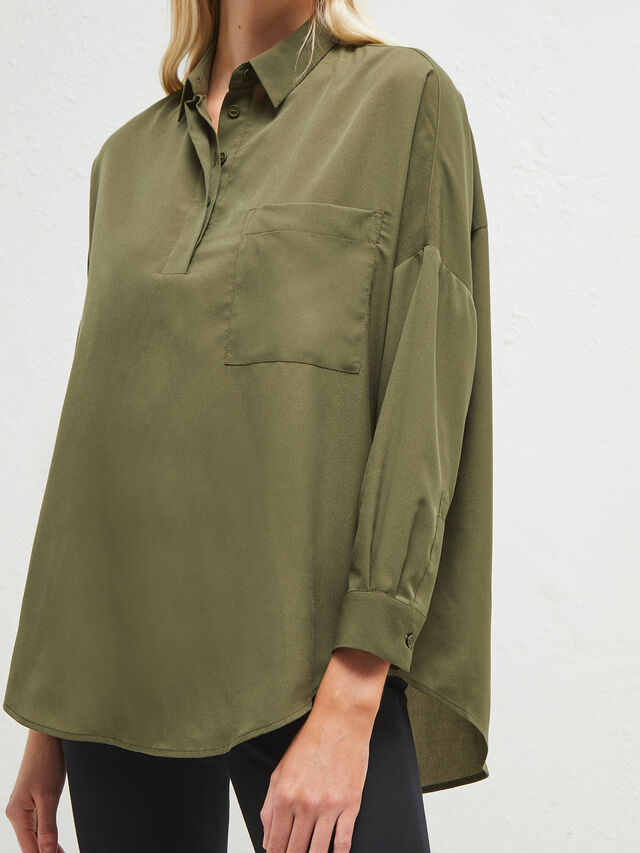 Crepe Light Rhodes Pocket Shirt