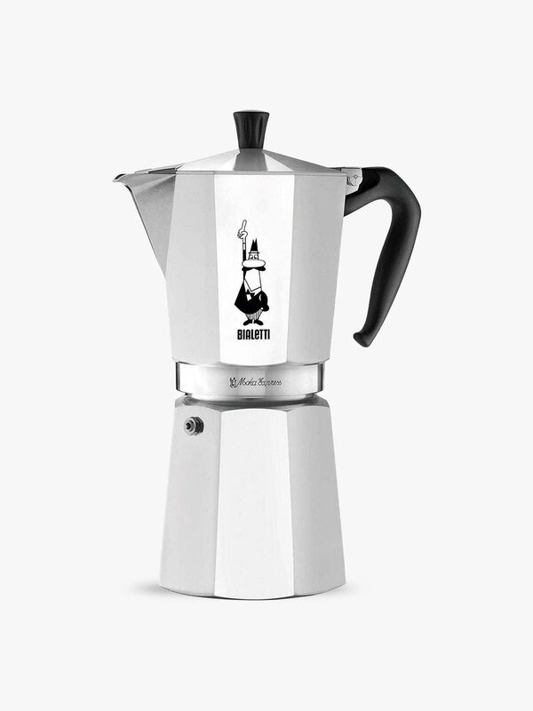 Moka Express Aluminium Stovetop Coffee Maker (12 Cup)