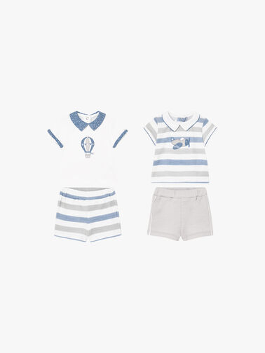 Stripe-Polo-and-Shorts-Set-Two-Piece-Set-1642-SS1