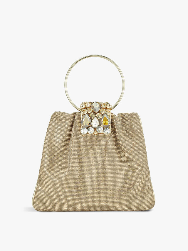 Small Crystal Pouch with Handle