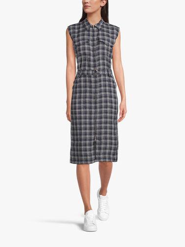 Checked-linen-dress-ZA85CAF2