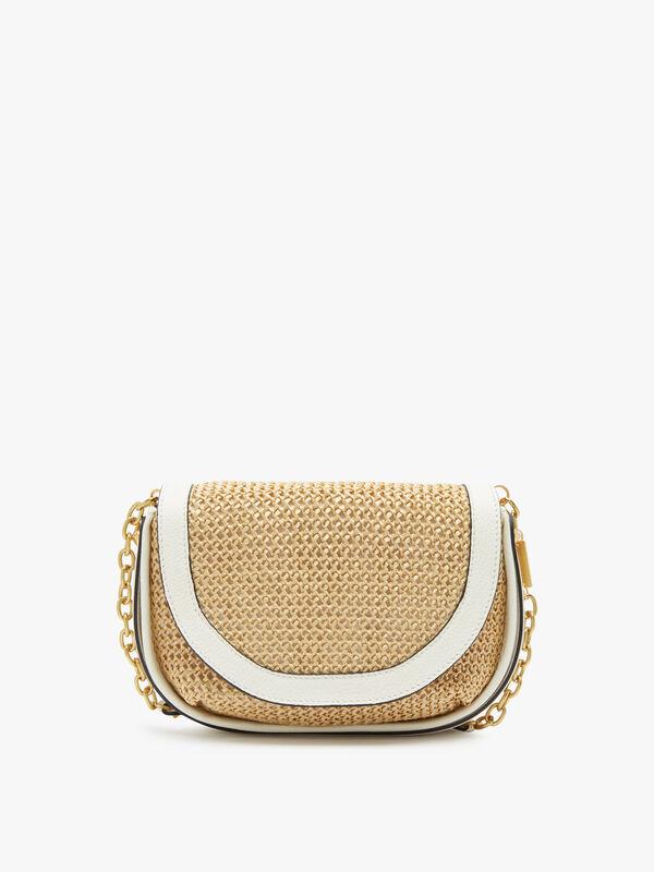 Diani Crochet Raffia Saddle Bag