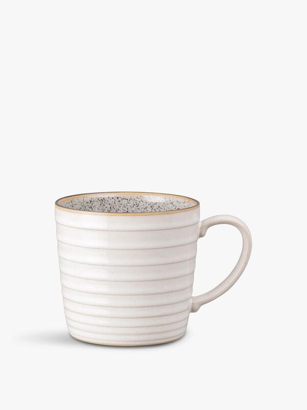 Studio Grey White Ridged Mug
