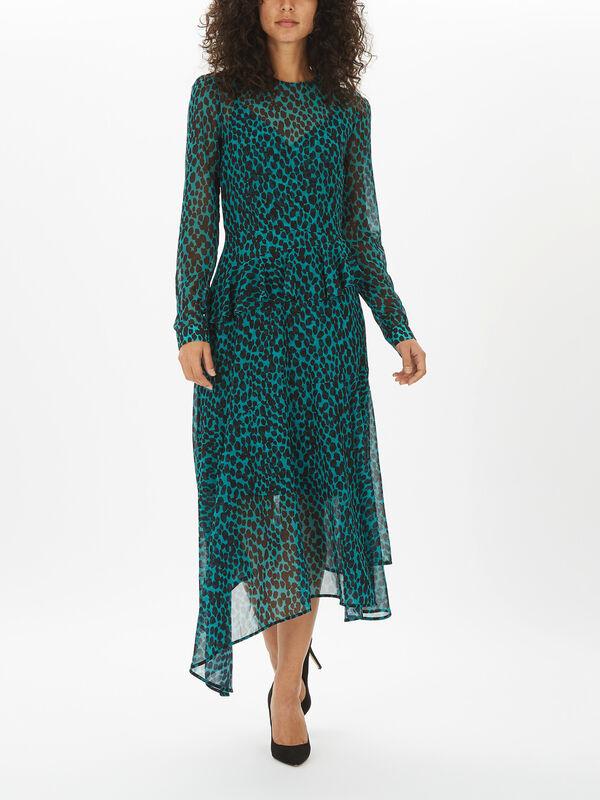 Rosie Leopard Spot Georgette Dress
