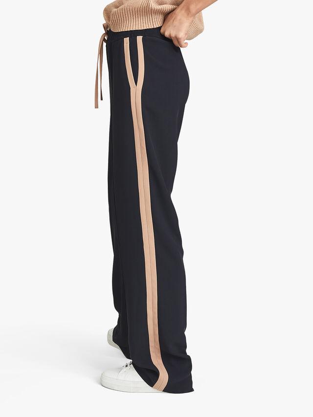 Frazer Wide Legs Trousers With Side Stripe