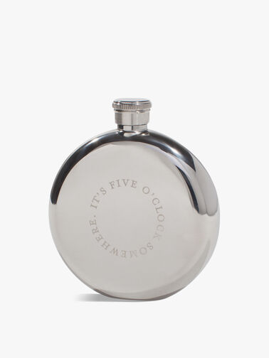 It's Five O'Clock Somewhere Hip Flask