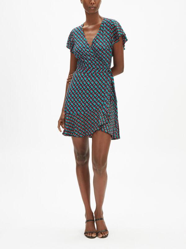 Avaya Ruffle Mini Dress