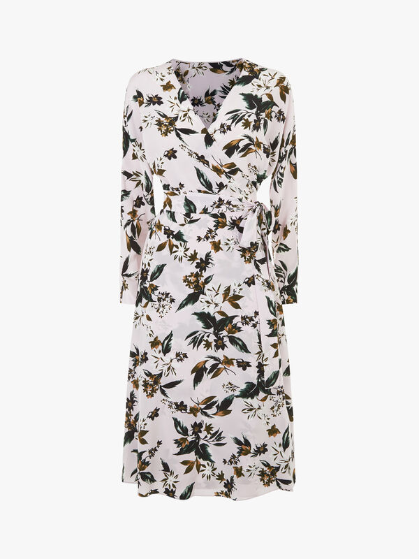 Elle 3/4 Zip Sleeve Midi Dress