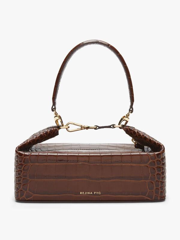 Olivia Leather Emboss Croc Bag