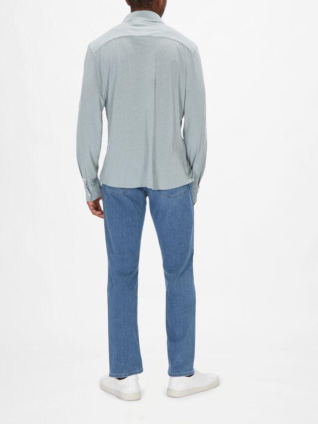 Linen Blend Jersey Shirt