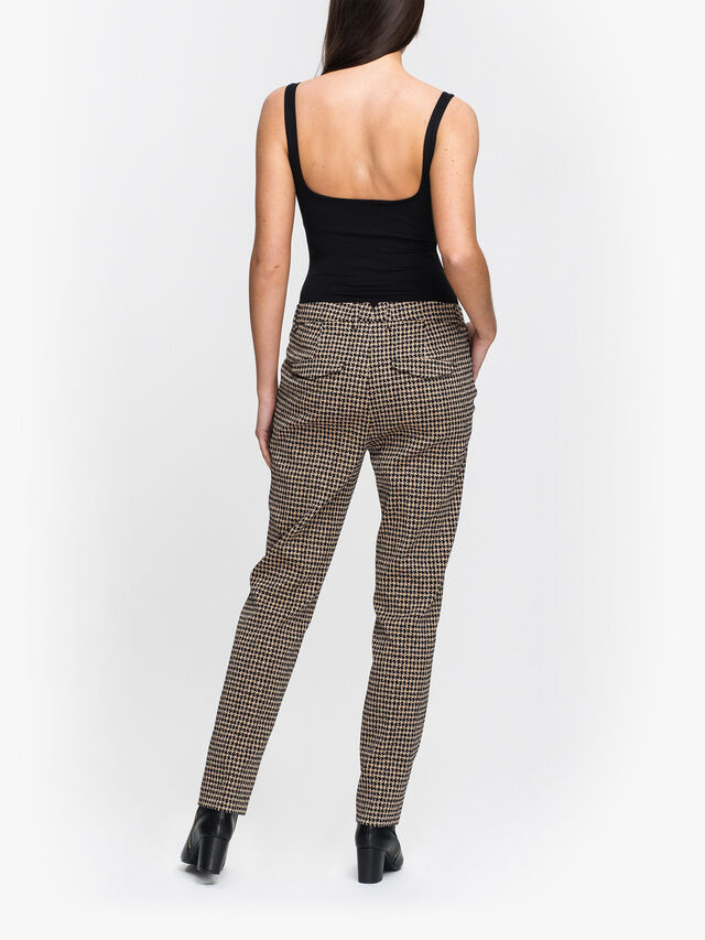 Micro Check Cigarette Trouser