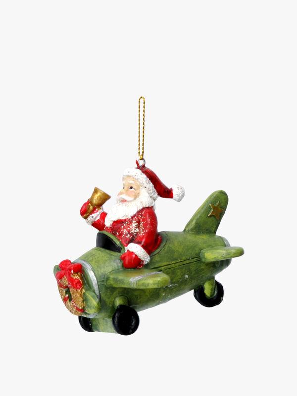 Santa In Plane Christmas Decoration