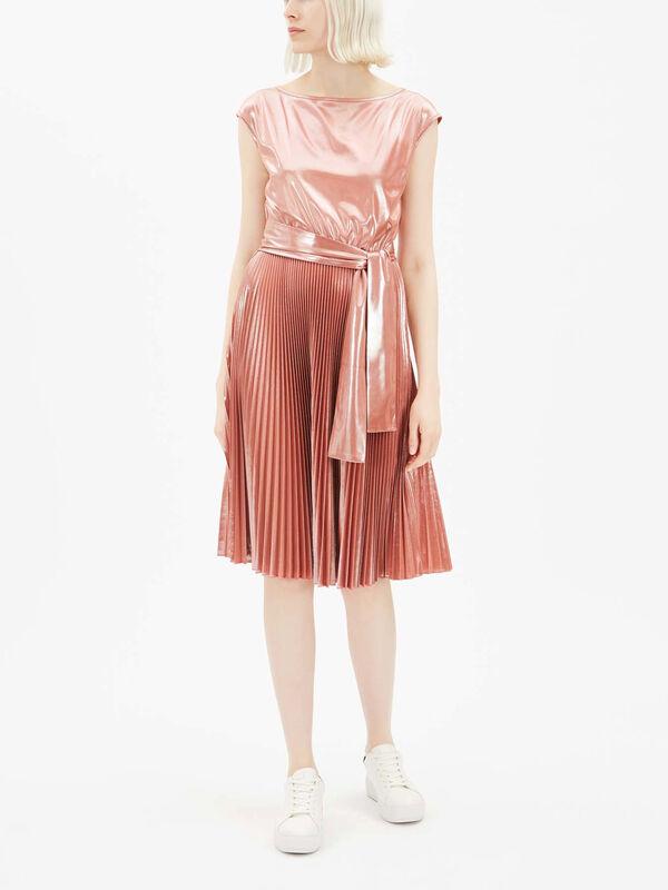 Primo Shimmer Tie Waist Dress