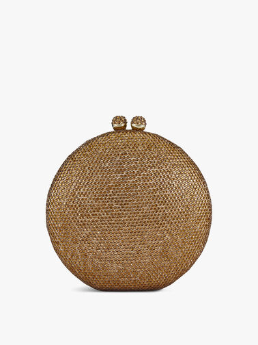 Round box crystal clutch