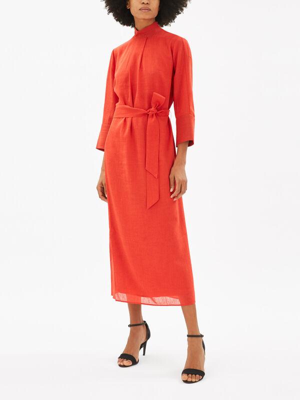 Midi Dress With Pleat