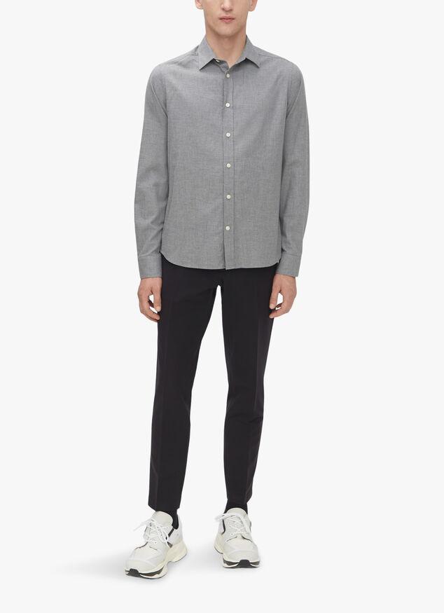 Light Flannel Slim Shirt