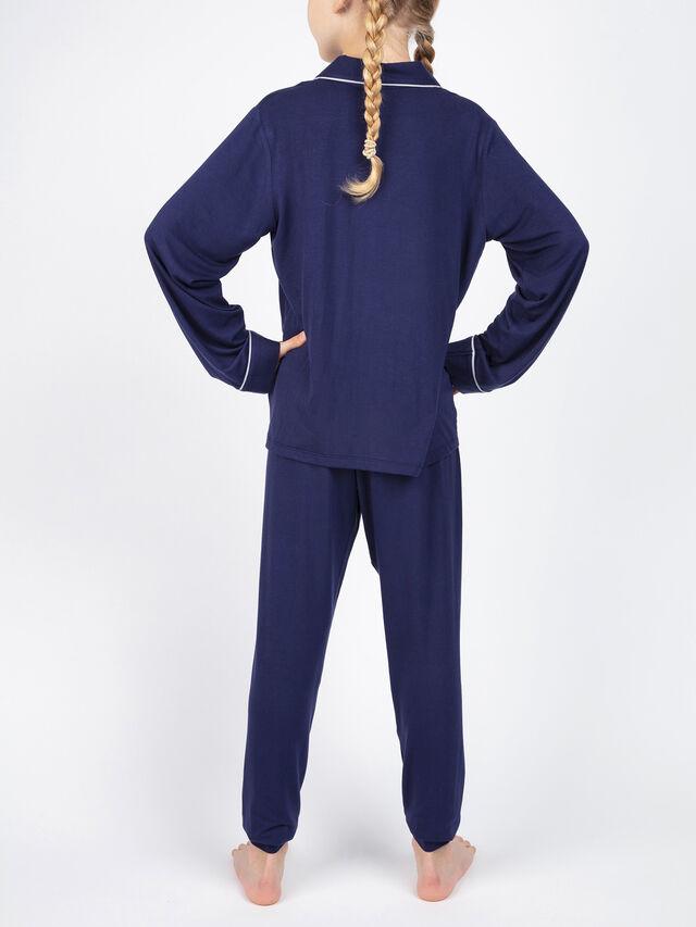 Ellie Knitted Revere Long Sleeve Pyjama