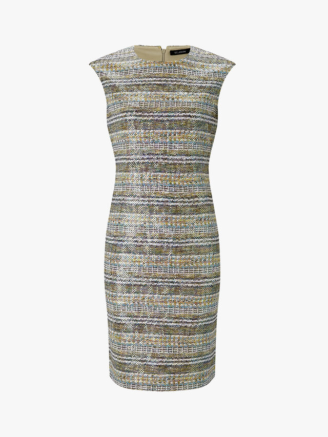 Bobbie Knit Cap Sleeve Scoop Neck Dress
