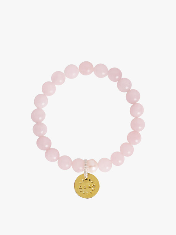 Rose Quartz Gold Maternity Bracelet